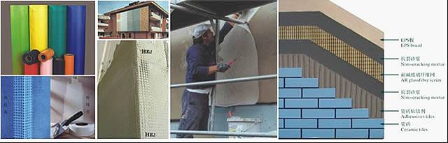 Exterior insulation and finish systems dedicated alkali mesh